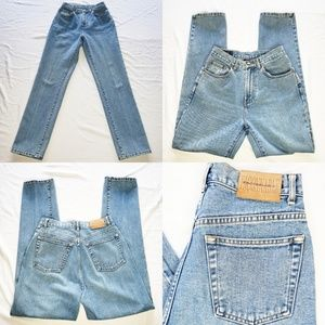 Vintage Faconnable Mom High Waisted Medium Wash 10